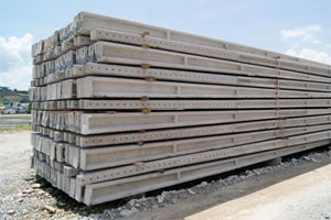 Poste de Concreto Pré-Moldado Duplo T 90